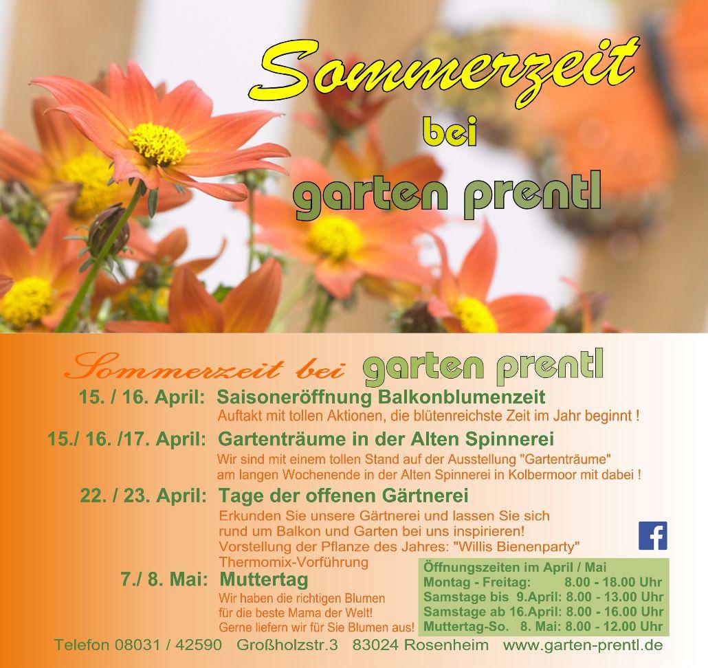 Saisonbeginn Beet Und Balkonpflanzen Garten Prentl